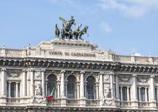 Il palazzo di giustizia, sedile del Corte Suprema Di Cassazione a Roma, Italia Fotografia Stock Libera da Diritti