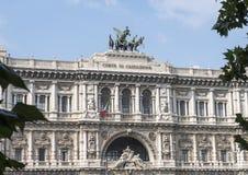 Il palazzo di giustizia, sedile del Corte Suprema Di Cassazione a Roma, Italia Immagine Stock Libera da Diritti
