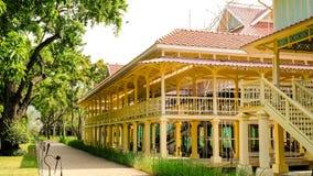 Il palazzo di Mrigadayavan del palazzo di Marukhathaiyawan più bello situato su Hua Hin, Phetchaburi, Tailandia Immagine Stock Libera da Diritti
