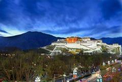 Il palazzo di Potala a Lhasa Fotografie Stock Libere da Diritti