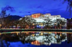 Il palazzo di Potala a Lhasa Fotografia Stock Libera da Diritti
