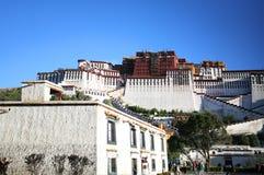 Il palazzo di potala, lhasa nel Tibet Fotografia Stock Libera da Diritti