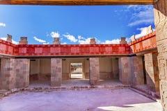 Il palazzo di Quetzalpapalol rovina Teotihuacan Città del Messico Messico Fotografia Stock Libera da Diritti