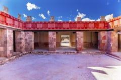 Il palazzo di Quetzalpapalol rovina Teotihuacan Città del Messico Messico Fotografie Stock Libere da Diritti