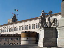 Il palazzo di Quirinal a Roma Fotografie Stock
