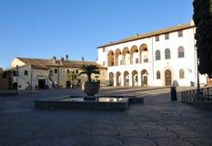 Il palazzo di Ruspoli nella città di Cerveteri, Italia immagini stock libere da diritti