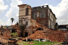 Il palazzo distrutto a Katmandu nepal Fotografie Stock