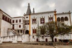Il palazzo nazionale di Sintra (Palacio Nacional de Sintra) Fotografie Stock Libere da Diritti