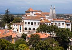 Il palazzo nazionale in Sintra, Portogallo Fotografia Stock