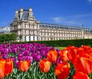 Il palazzo nel giardino del Lussemburgo Immagini Stock Libere da Diritti