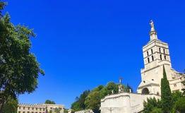 Il palazzo papale è un palazzo storico situato a Avignone, Francia del sud È uno di più grande e Goth medievale più importante Immagini Stock