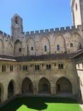 Il palazzo papale è un palazzo storico situato a Avignone, Francia del sud È uno di più grande e Goth medievale più importante Fotografie Stock Libere da Diritti