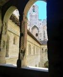 Il palazzo papale è un palazzo storico situato a Avignone, Francia del sud È uno di più grande e Goth medievale più importante Fotografie Stock