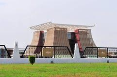Il palazzo presidenziale di casa dell'albero per bandiera del Ghana Fotografia Stock