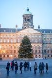 Il palazzo reale di Amsterdam fotografie stock libere da diritti