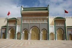 Il palazzo reale in Fes Marocco Fotografia Stock Libera da Diritti