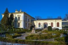 Il palazzo storico a Lodz, Polonia Fotografia Stock