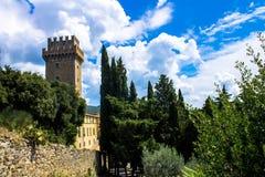 Il Palazzone, villa elegante di rinascita in Cortona, Italia Fotografia Stock Libera da Diritti