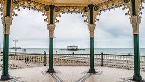 Il palco dell'orchestra vittoriano a Brighton e Hove Immagini Stock Libere da Diritti
