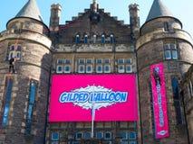 Il pallone dorato alla frangia di festival di Edimburgo immagini stock