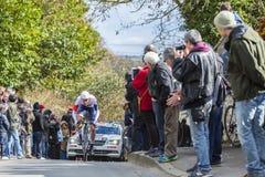 Il palo Laengen - 2016 Parigi-piacevole di Vegard del ciclista Fotografia Stock