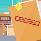 Il Panama Papers Folder Secret Document Offshore Company illustrazione vettoriale