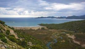 Il panaroma della spiaggia di Cayagzi, Demre, Adalia, T fotografia stock libera da diritti