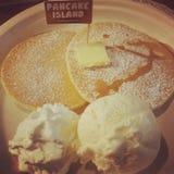 Il pancake Fotografia Stock