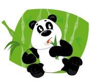 Il panda mangia i fogli Fotografia Stock