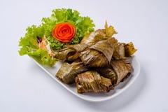 Il Pandanus fritto pollo è delizioso Fotografia Stock Libera da Diritti
