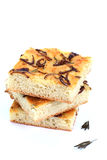Il pane affetta il focaccia Fotografie Stock
