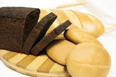 Il pane sulla tavola Fotografia Stock Libera da Diritti