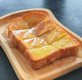 Il pane tostato imburrato è famoso in Tailandia Fotografia Stock Libera da Diritti