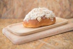 Il panino di pane con maionese e la carne di maiale floss immagine stock libera da diritti