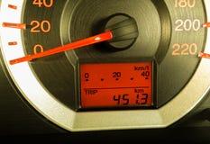 Il pannello di controllo dell'automobile Immagine Stock
