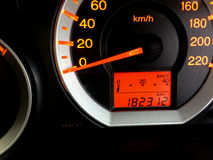 Il pannello di controllo dell'automobile Fotografia Stock Libera da Diritti