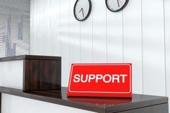 Il pannello indicatore di sostegno 3d rende l'interno Fotografie Stock