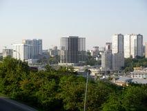 Il panorama dall'altezza alla città di Rostov On Don Fotografie Stock