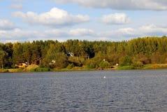 Il panorama del fiume Volga Fotografie Stock Libere da Diritti