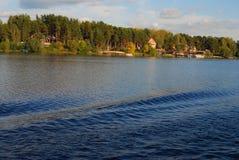 Il panorama del fiume Volga Fotografia Stock Libera da Diritti