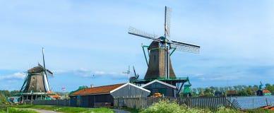 Laminatoio di vento degli schans dello zaanse… Immagini Stock Libere da Diritti