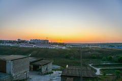 Il panorama della città di Belgorod Immagine Stock Libera da Diritti