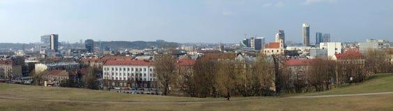 Il panorama della città di Vilnius Immagine Stock Libera da Diritti