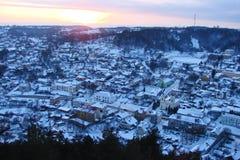 Il panorama della città ucraina Kremenets Fotografia Stock Libera da Diritti
