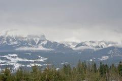 Il panorama della montagna di Rysy in montagne di Tatra Fotografia Stock Libera da Diritti