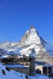 Il panorama della montagna e la vista gloriosa del Cervino da Gornergrat Le alpi, Svizzera Immagini Stock