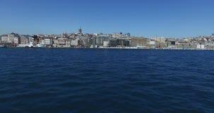 Il panorama della vista da Horn dorato sulla condotta pende città archivi video