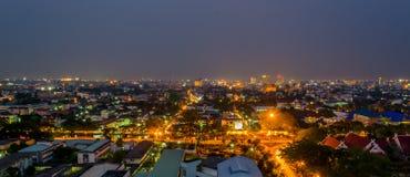 il panorama ha sparato di Chiang Mai (la vecchia città), Tailandia per il backgro fotografia stock