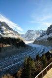 Il Panoramic Mer de Glace nelle alpi, vicino a Chamonix-Mont-Blanc Immagini Stock