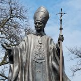 Il papa Statue fotografie stock libere da diritti